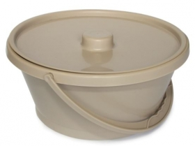 Bowl, with Lid & Handle, Beige