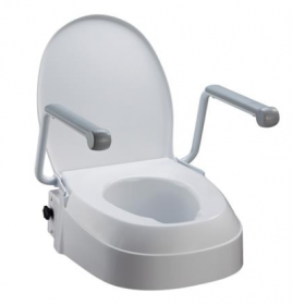 Toilet Seat Raiser with Arms